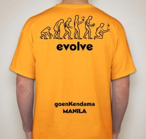 science shirt gold bk